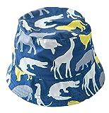 DEMU Dinosaurier Muster Kinderhut Fischerhut Sonnenhut Strandhut Babymütze Sonnenschutz