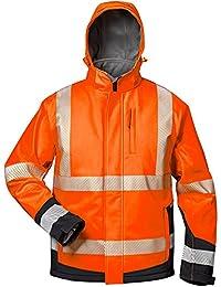 Elysee 23436-L Lukas Parka d'hiver haute visibilité Taille L Orange Fluorescent/Noir