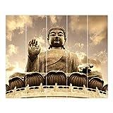 Bilderwelten Schiebegardinen Großer Buddha - 5 Flächenvorhänge Deckenhalterung 5X 250x60cm