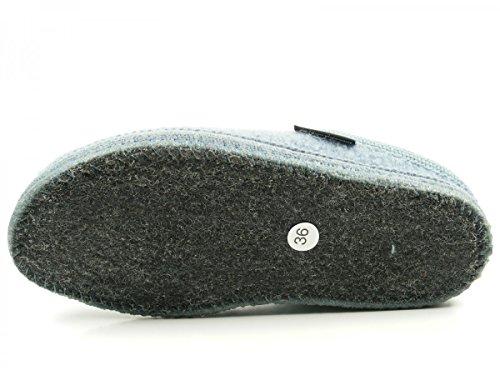 Haflinger 611086 Walktoffel uni Pantofole unisex adulto Blau