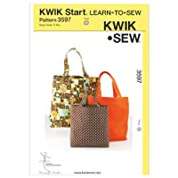 Kwik Sew Patterns K3597 Size Small/ Medium/ Large Bags, Pack of 1, White