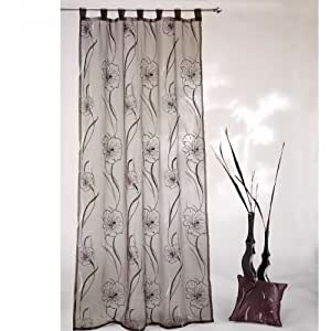 ! rideau voilage à passants 140 x 245 cm org.06 hibiscus