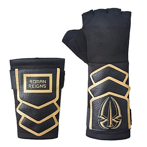 Roman Reigns WWE Superman Punch Handschuh Armband Set - Gold, One size (Roman Reigns Kostüm)