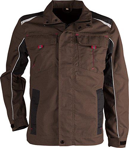 Prisma® - Multifunktionale Arbeitsjacke - reflektierende Streifen - enge Passform - Braun 46