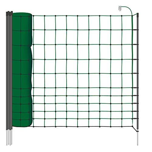 filet de clôture de protection de 25m pour les petits animaux - clôture de protection idéale pour chats et autres petits animaux - hauteur 75cm, mailles étroites - couleur vert