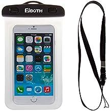 Custodia impermeabile IPX8, EJBOTH 5,8 Pollici Universale Waterproof Case Durevole sott'acqua Copertura Dry Bag Tocca Responsive Trasparente di Windows Sistema sigillato per iPhoneX/ 8/ 7/ 8Plus/ 7 Plus/ Huawei P smart/ honor 7X/ 9 lite/ 9/ 10/ P20/ P20Lite/ P20 Pro/ Samsung A8 2018/ S9/ S9 Plus/ Sony XZ2 comnpcat/ XZ2/ XA2/ Moto G6/ G6 plus/ Xiaomi note 5 pro/ Redmi 5 plus/ Zte V9/ V9 lite e Altri Smartphone - Sacchetto impermeabile per Canottaggio Escursionismo Nuoto Immersione [Bordo Traspar