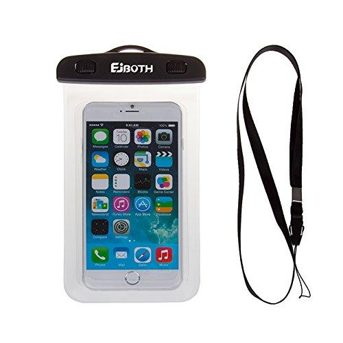 IPX8 Wasserdicht Hülle Case EJBOTH Universal Dauerhaft Unterwasser-Dry Bag,Berühren ansprechbarTransparente Fenster-Wasserdichtes , versiegeltes System für iPhone 7/8,7plus/8 plus ,X,6s, 6s plus, 6, 6 plus, 5, 5s, SE, Samsung A8 2018,S9/S9 plus,Galaxy S6 / S6 Rand, S7 / S Edage / S5, Samsung Note 3,2,MOTO G6,G6 plus,SONY Xperia XA2,XZ2, XZ2 comnpcat,Xiaomi redmi 5 plus,Xiaomi note 5 pro,ZTE bladle V9,V9 lite und Andere Smartphone; Wasserdichte Tasche für Bootfahren Wandern Baden Tauchen