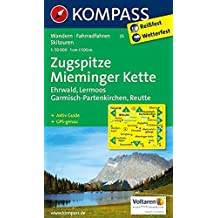 Zugspitze - Mieminger Kette - Ehrwald - Lermoos - Garmisch-Partenkirchen - Reutte: Wanderkarte mit Aktiv Guide, Radwegen und Skirouten. GPS-genau. 1:50000 (KOMPASS-Wanderkarten, Band 25)