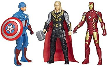 HALO NATION Avengers Toys Set - Captain America, Ironman and Thor - Infinity War 3 Hero Collection (Multicolour)