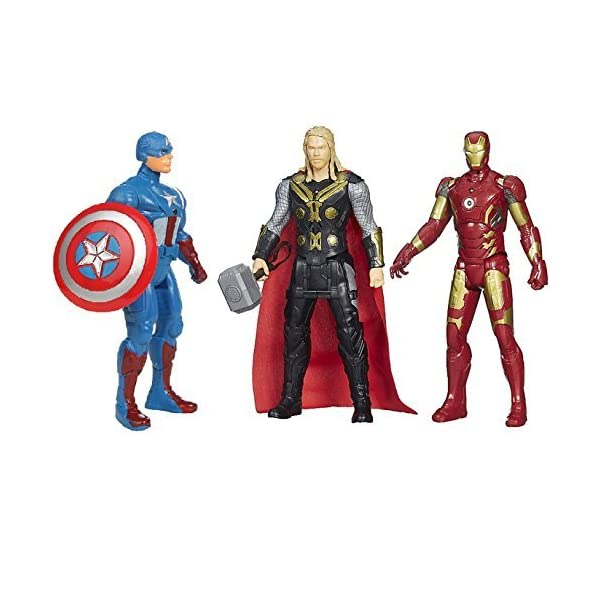 Avengers Toys Set – Captain America , Iron Man & Thor – Infinity War 3 Hero Collection