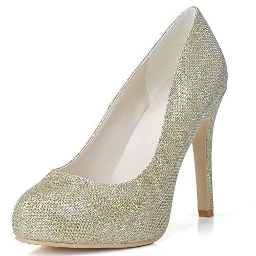 L@YC Scarpe Da Sposa Da Donna P # -6915-03 Platform High Heels Flash PU Scarpe Da Sposa Yellow