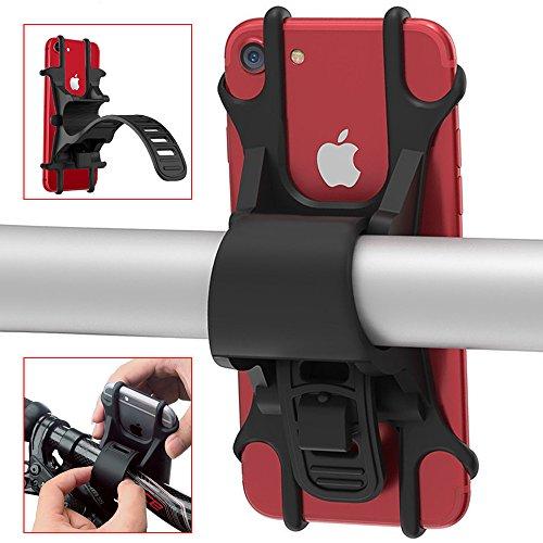 Handyhalterung Fahrrad Jack & Rose Silikon Verstellbarer Fahrradhalterung universaler Fahrradhalter Haltrung für iPhone X/8/8 Plus/Samsung Galaxy S9/S8 Plus, Ideal für Mountainbike, Rennrad & Motorrad (4,5 - 6,0 Zoll)