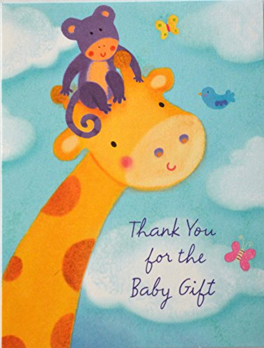 8 Baby Shower Thank You Notes - Giraffe by Tender Thoughts Greetings