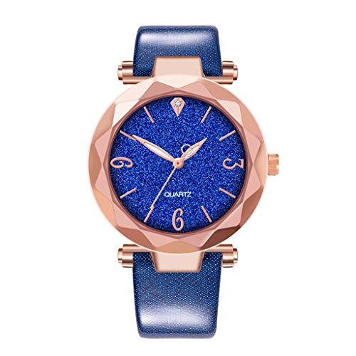 Cloodut Luxusuhren Quarzuhr Edelstahl Zifferblatt Casual Armband Uhr Damenuhr Lässige Mode Dauerhaft Dekoration Elegant und Schön Ausverkauf, Beleuchtung Angebote(BU)