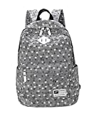 Fashion Damen Vintage Sterne Canvas Rucksack Sports