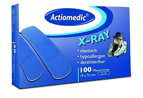 Actiomedic® DETECT Pflasterstrips X-Ray elastisch Blau 19 x 72 mm