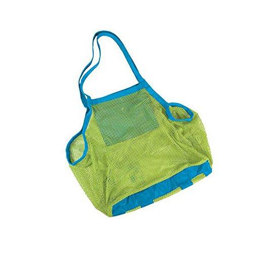 Delmkin Strandtasche Kinder Aufbewahrung Netztasche für Strand-Spielwaren wasserdichte Strand Tasche 45 * 45cm