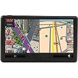 Coche GPS Navegación 7 Pulgada LCD Toque Pantalla Alto Definición Impermeable Alto Precisión NAVEGACIÓN POR SATÉLITE Sistema 8 GB 800MHZ FM MP3 / MP4 Múltiples Funciones Medios de Comunicación Jugador Con Windows CE para Todos los Vehículos por GPS ,Libre de por vida Reino Unido y Europa Actualizaciones de Mapas (8GB)