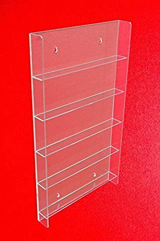 Nail Varnish Display Glass Cabinet, Wall-Mounted for Small Bottles or Collectors