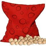 NaturGut Sachet de noyaux de cerises rouges, avec cercles, (24x 24cm)