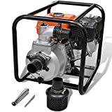Festnight 6,5 PS Benzin Wasserpumpe Gartenpumpe Motorpumpe Benzinwasserpumpe Max. Druckhöhe 30 m