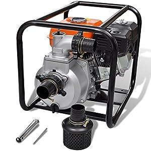 Festnight Motor de Gasolina Bomba de Agua – 3600rpm 3,6L 6,5HP – Material de Metal, 49x37x42 cm