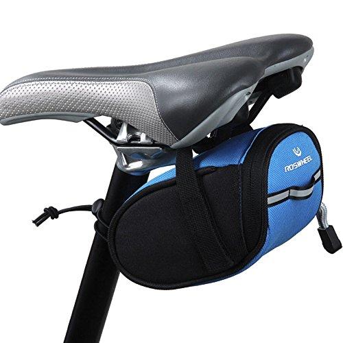 YooGer 0.5L Fahrrad Sitz Tasche, Satteltasche, Outdoor Radfahren Mountainbike Rücksitz Pack Aufbewahrungstasche (Blau)