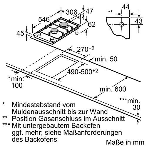 NEFF NK 2430 N 30cm Domino Gas Kochfeld N 24K30 N0 - 2