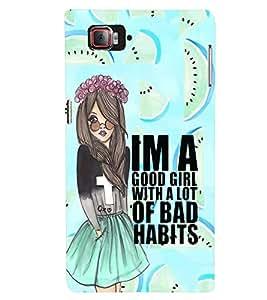 printtech Good Girl Bad Habit Back Case Cover for Lenovo Vibe Z2 Pro :: Lenovo K920