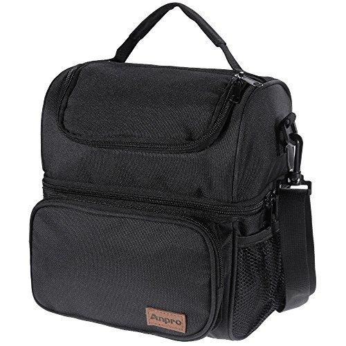 Anpro borsa termica per pranzo con tracolla per scuola campeggio o ufficio
