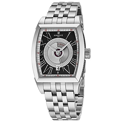 Perrelet Men's Double Rotor Steel Bracelet & Case Automatic Watch A1029-G