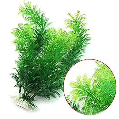 Phoenix B2C UK Artificial Fish Tank Aquarium Decoration Green Plastic Underwater Grass Plant 2