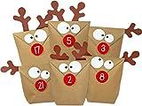 DIY Adventskalender Elch zum Basteln & Befüllen | selber machen ohne Schere | alle Teile gestanzt | Neuauflage 2017 des Original Elchtütenkalenders | wiederverwendbar | Weihnachtskalender