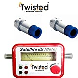 #1: Twisted Satellite Signal Finder Db Meter for Full,Hd Dish T.V Network Setting with Two Rg6 Compression connectors