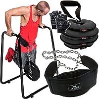 C.P. Sports DIP estación de Juego con estación de Dip con trabillas, pesa rusa, dipgürtel y Cross de fitness guantes