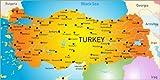 Poster 40 x 20 cm: Türkei - Landkarte von Editors Choice -