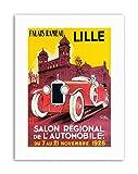 Wee Blue Coo LTD Motor Show Lille France CAR Poster Vintage