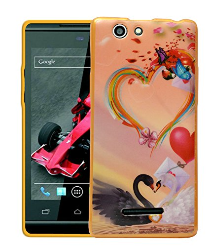 ECellStreet Printed Back Case Cover For Xolo A500s - Heart Pattern  available at amazon for Rs.189