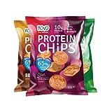 NOVO NUTRITION PROTEIN PROTEIN CHIPS MIX 3 Packungen a' 30g (BBQ + SOUR CREAM & ONION + SWEET THAI CHILLI)