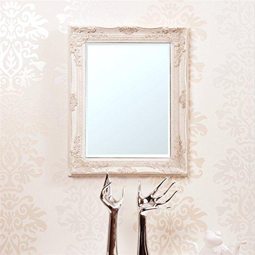 DESIGN DELIGHTS BAROCK WANDSPIEGEL | 47x37cm, barocker echtholz Bilderrahmen mit Facettenspiegel |...