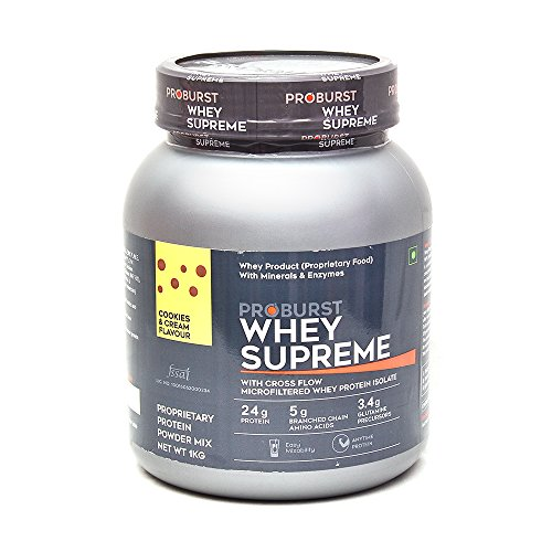 Proburst Whey Supreme 1kg Cookies Cream With Free Cyclone Shaker