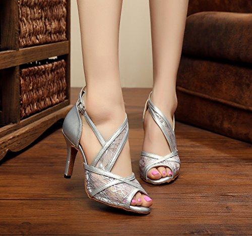 Miyoopark ,  Damen Tanzschuhe Silver-8.5cm Heel