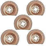 Handser 5,1 cm oszillierende Säge, halbrund Hartmetall, Multifunktionssägeblatt, 63 mm Hartmetall, kompatibel mit Multimaster Craftsman Ridgid Ryobi, 5 Stück