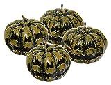 Pack de 4 velas con forma de calabazas de terror para Halloween