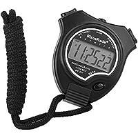 Chronomètre, bizoerade simple chronomètre Grand écran Handheld Digital Chronomètre pour sports, noir, bizoerade d'entrainement