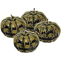 Haunted House - Pack de 4 velas calabazas terror para Halloween (Rubie's Spain S7259)