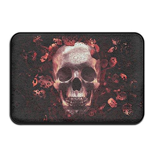 Skull & Roses Live Screenshot rutschfeste Fußmatte Boden Fußmatte Innen Outerdoor Badezimmer 59,9x 39,9cm
