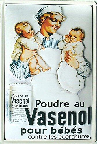 Vasenol-pour Bebes Targa in metallo, 20x 30cm