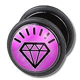 Best body jewelry Fake Diamonds - Fake Cheater Ear Plug, Earring, Body Jewellery, Diamond Review