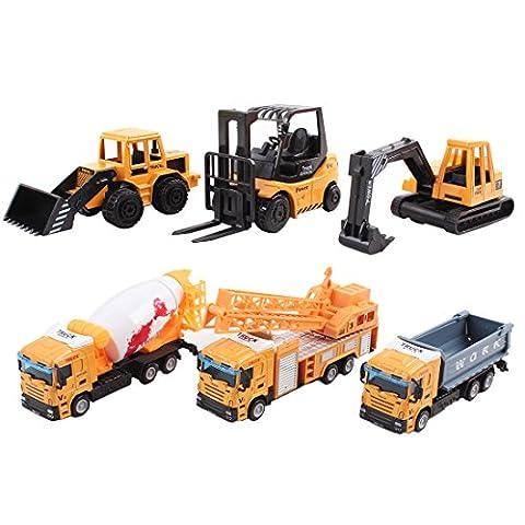 deAO Camions de Construction Modèle Moulé à Collectionner à Petite